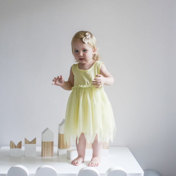 little dreamers canary yellow tutu dress_1